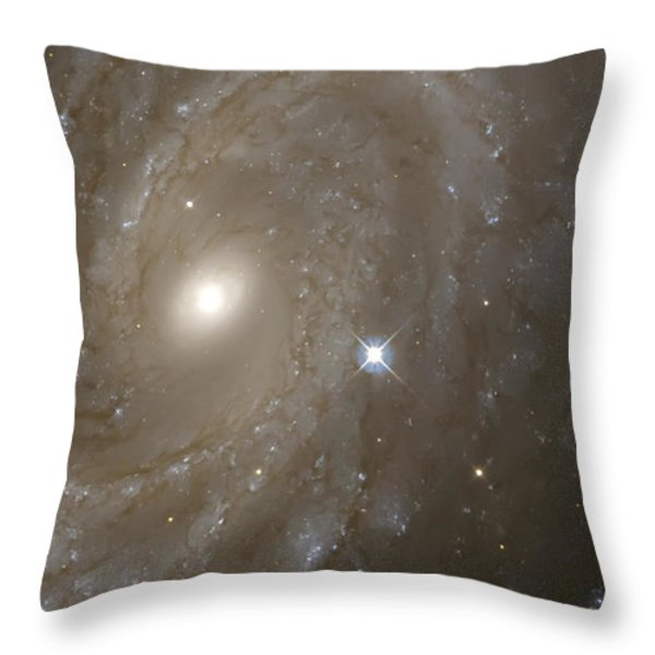 Stars And Spiral Galaxy Throw Pillow by The  Vault - Jennifer Rondinelli Reilly