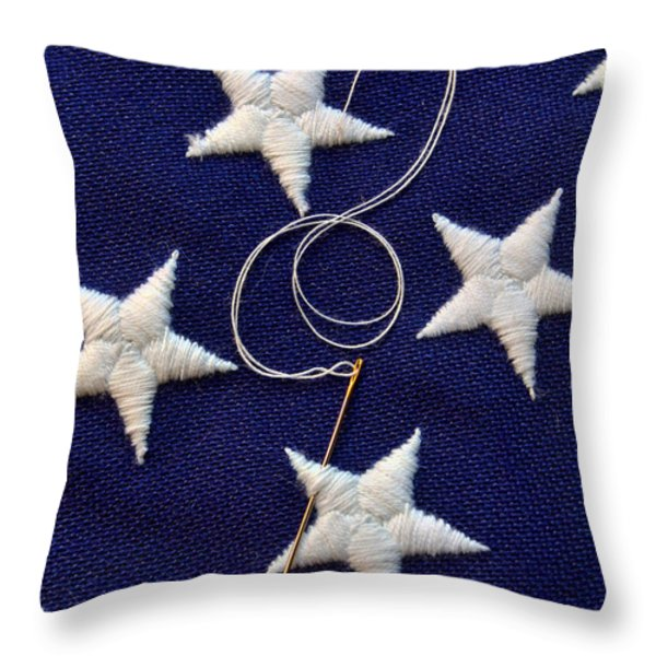 Stars Throw Pillow by June Marie Sobrito