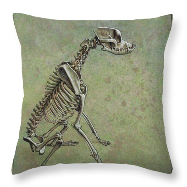 Stay... Throw Pillow by James W Johnson