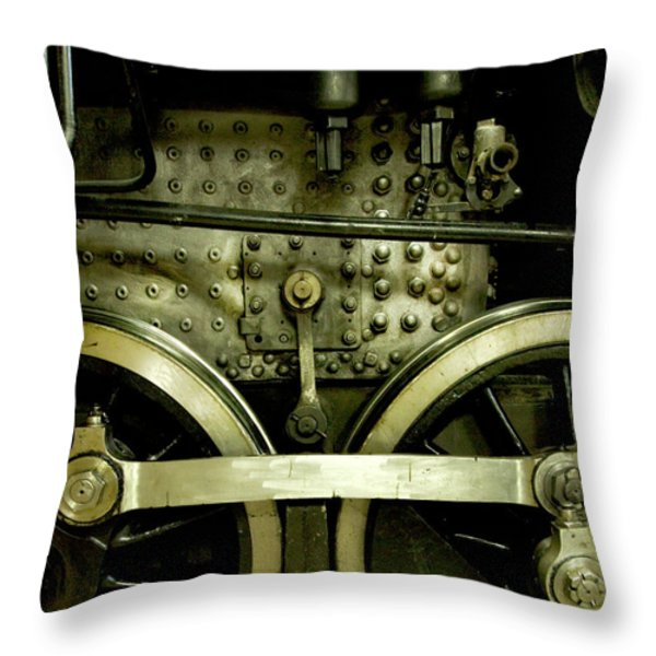Steam Power I Throw Pillow by Theresa Tahara
