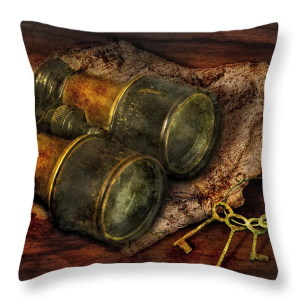 Steampunk - Extendo Optics  Throw Pillow by Mike Savad