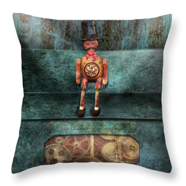 Steampunk - My favorite toy Throw Pillow by Mike Savad