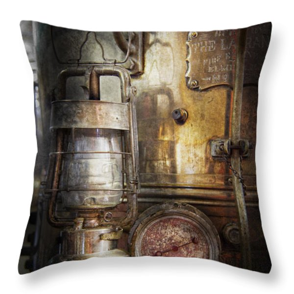 Steampunk - Silent into the night Throw Pillow by Mike Savad