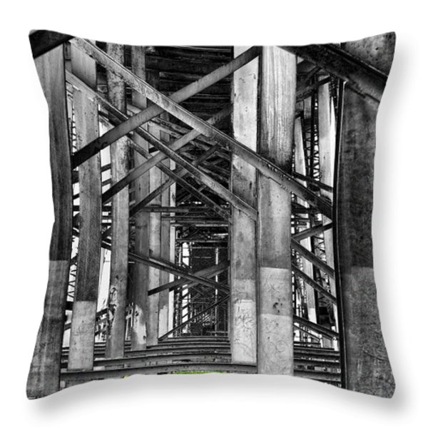 Steel Support Throw Pillow by Rudy Umans