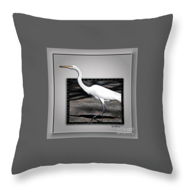 Stepping Out Into A New Dimension Throw Pillow by Sue Melvin