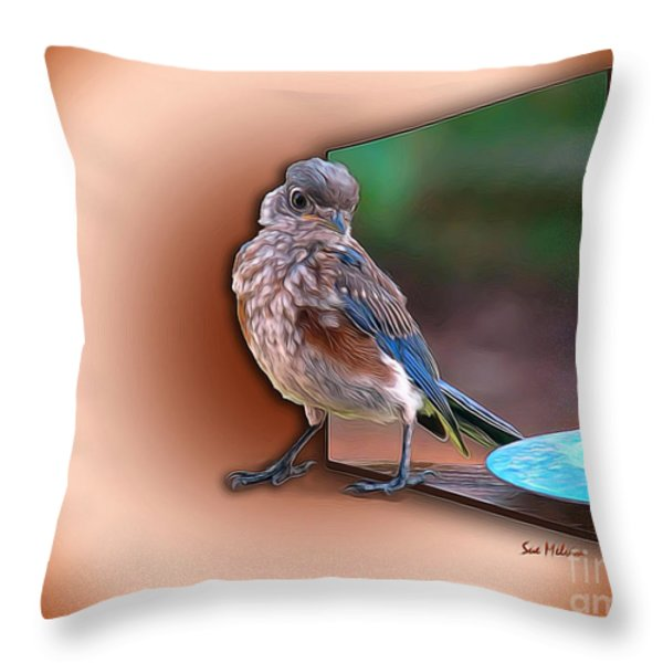 Stepping Out into the Spotlight Throw Pillow by Sue Melvin