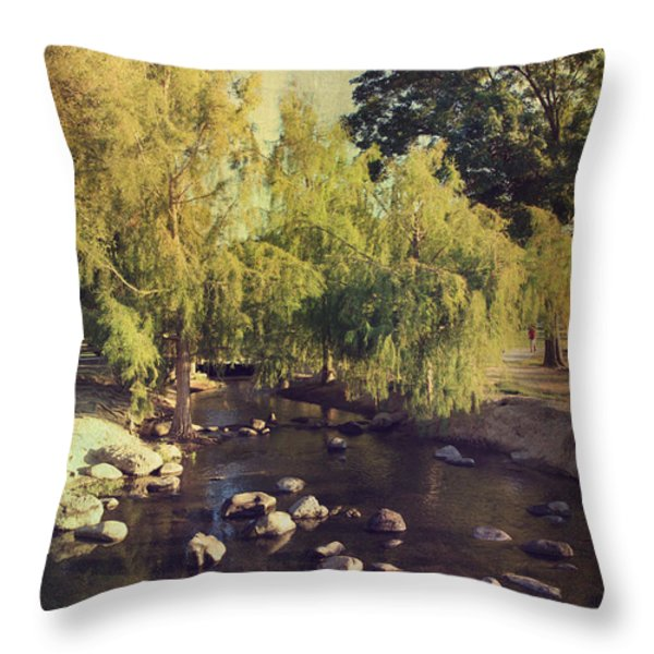 Stepping Stones to My Heart Throw Pillow by Laurie Search
