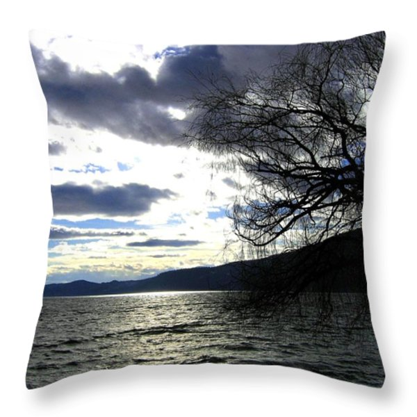 Sterling Silver Sunset Throw Pillow by Will Borden