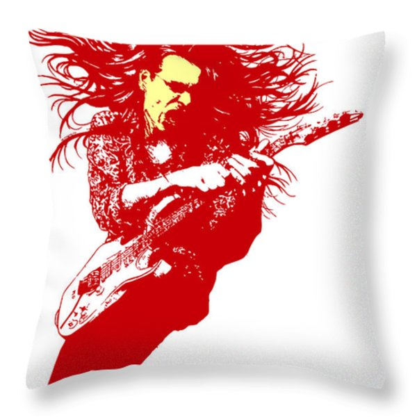 Steve Vai No.01 Throw Pillow by Caio Caldas