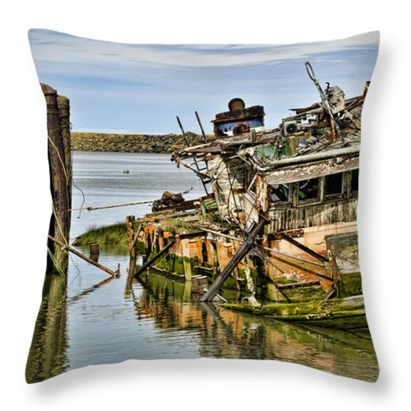 Still Afloat Throw Pillow by Heather Applegate