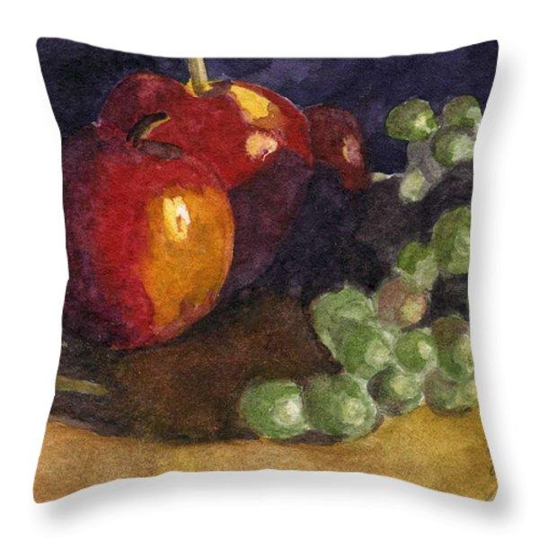 Still Apples Throw Pillow by Lynne Reichhart