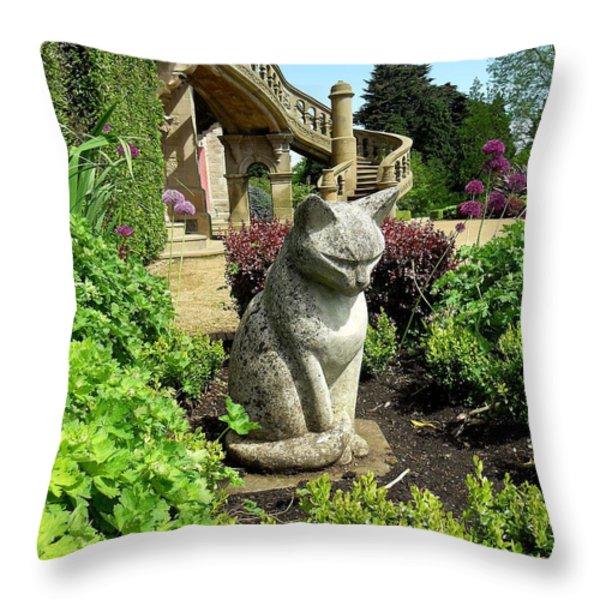 Stone Cat Throw Pillow by Patrick J Murphy