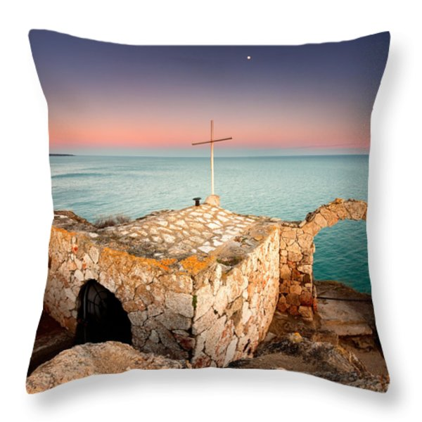 Stone Chapel Throw Pillow by Evgeni Dinev