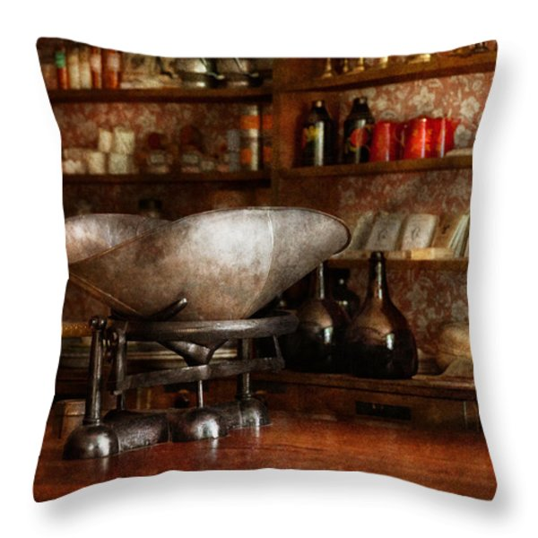 Store - A place for everything  Throw Pillow by Mike Savad