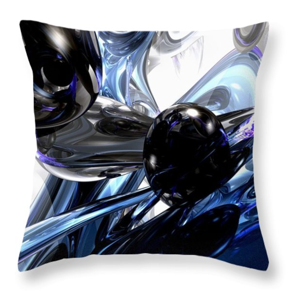 Storm Shadow Abstract Throw Pillow by Alexander Butler