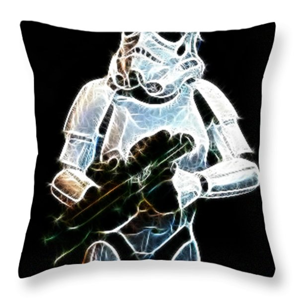 Storm Trooper Throw Pillow by Paul Ward