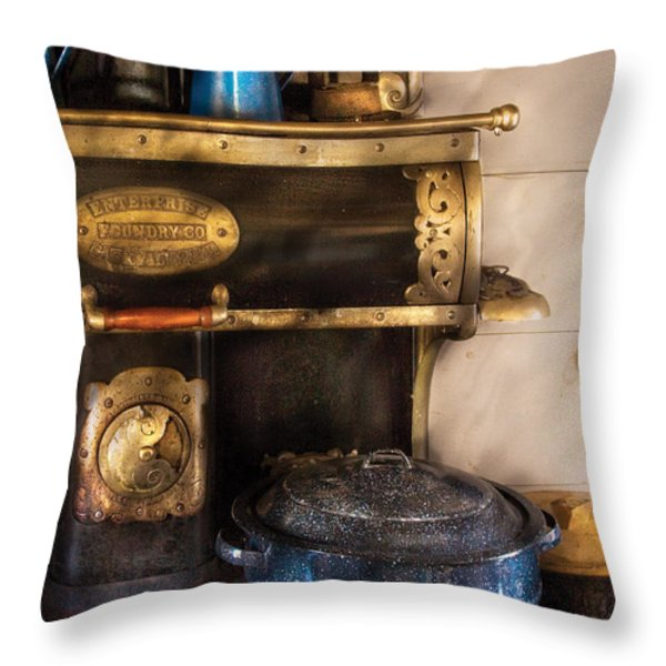 Stove - The Stove Throw Pillow by Mike Savad