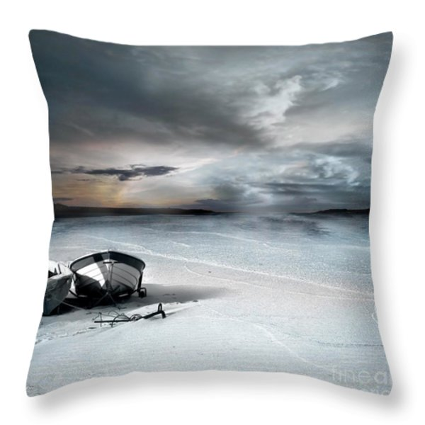 Stranded Throw Pillow by Photodream Art