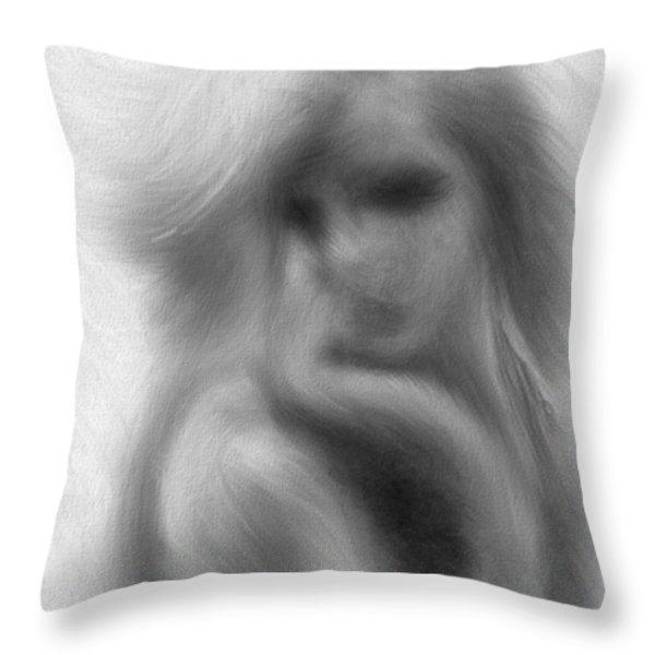 Stranger At The Cafe Throw Pillow by Bob Orsillo