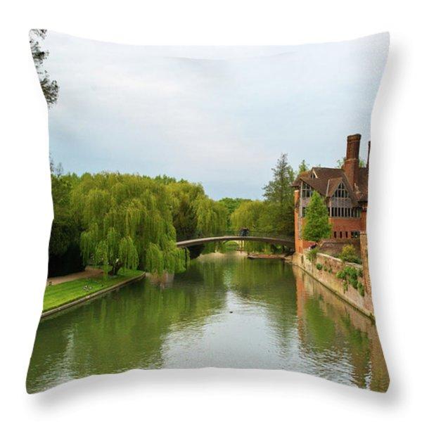 Stratford Upon Avon 2 Throw Pillow by Douglas Barnett