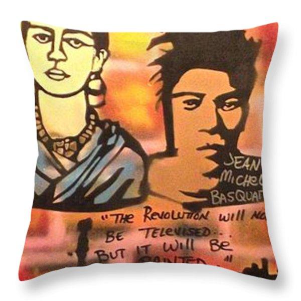Street Art Lives Throw Pillow by Tony B Conscious