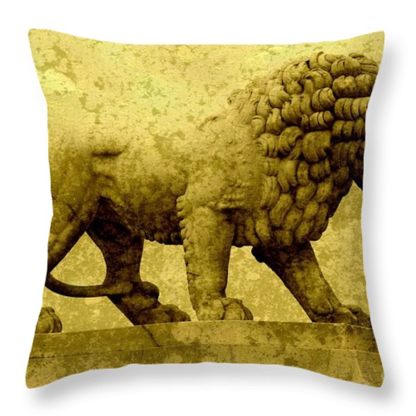 Strength Throw Pillow by Carol Groenen