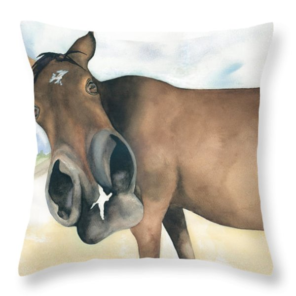 Stretch...your Perspective Throw Pillow by Kimberly Lavelle