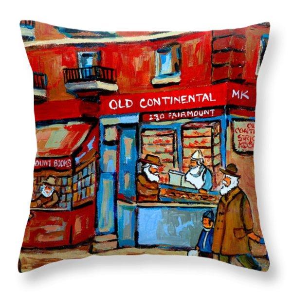 Strictly Kosher Throw Pillow by Carole Spandau
