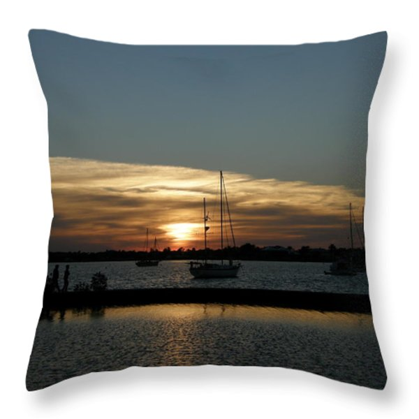 strolling in the sunset Throw Pillow by Kimberly Mohlenhoff