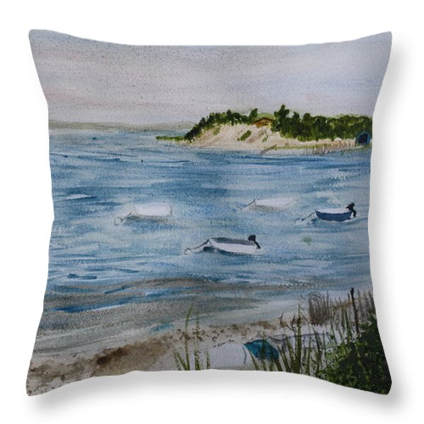 Strong Island Throw Pillow by Donna Walsh