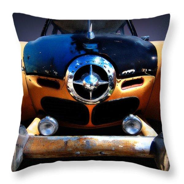 Studebaker Throw Pillow by Kurt Golgart
