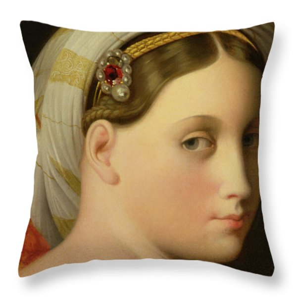 Study For An Odalisque Throw Pillow by Ingres