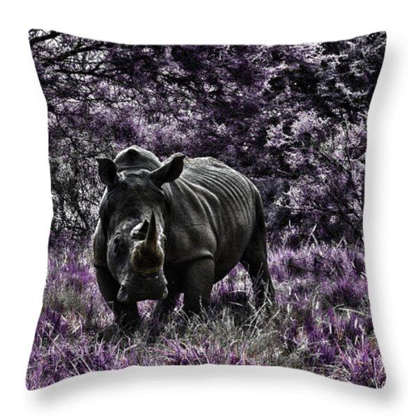 Styled Environment-The Modern Trendy Rhino Throw Pillow by Douglas Barnard