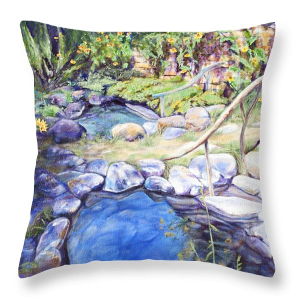 Sublime pools  Throw Pillow by M Schaefer