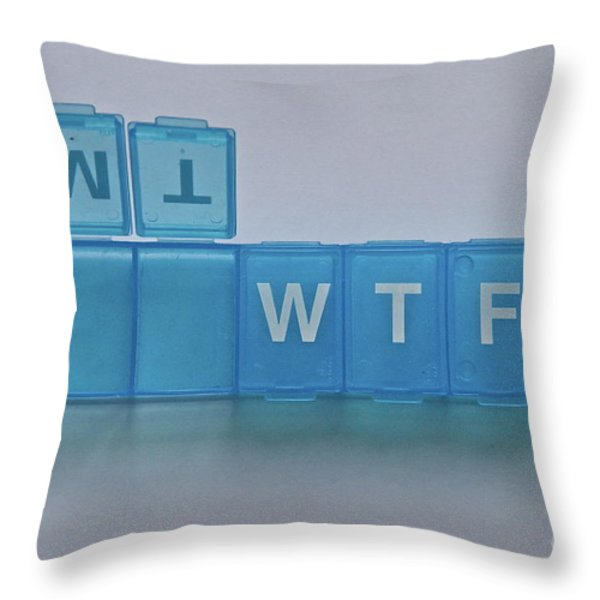 Subliminal Message Throw Pillow by Sean Griffin