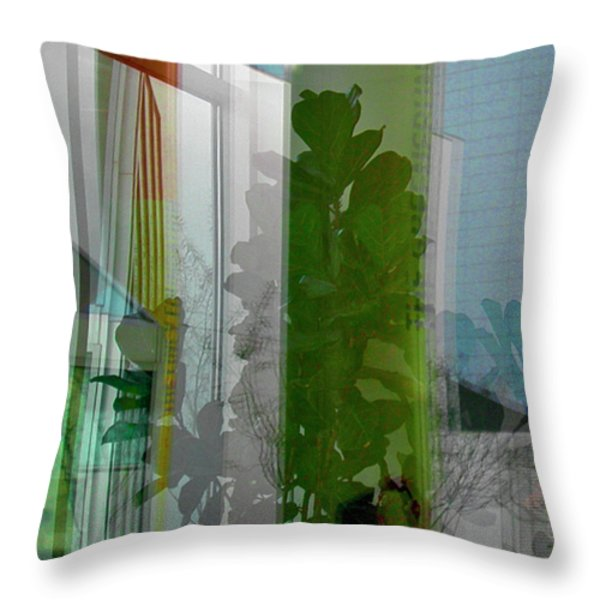 Subtle Reflections Throw Pillow by Nabila Khanam