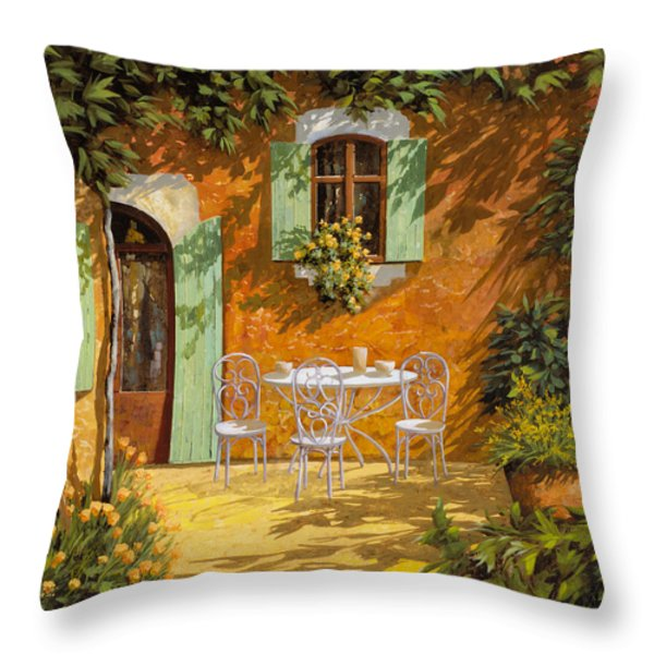 Sul Patio Throw Pillow by Guido Borelli