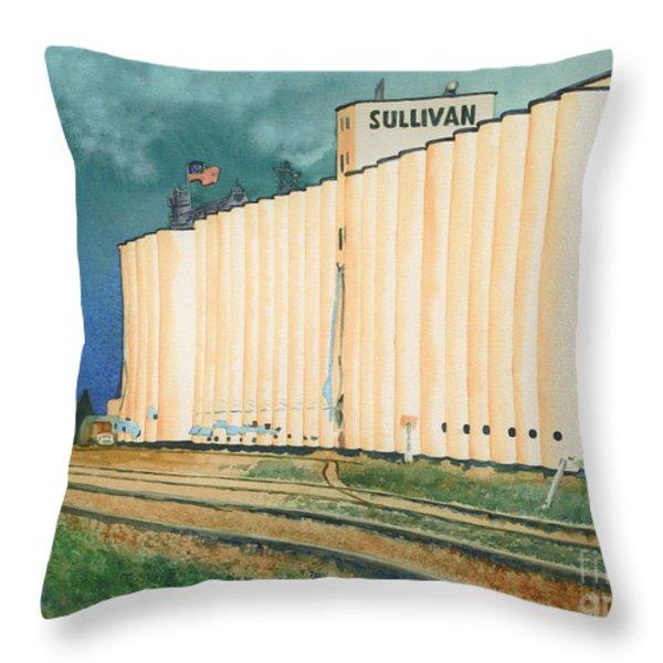 Sullivan Elevator Ulysses KS Throw Pillow by Tracy L Teeter