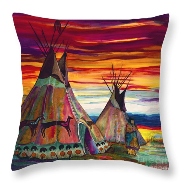 Summer On The Plains Throw Pillow by Anderson R Moore