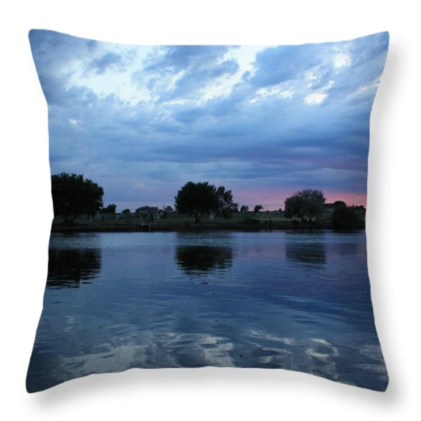 Summer Sunset On Yakima River 5 Throw Pillow by Carol Groenen