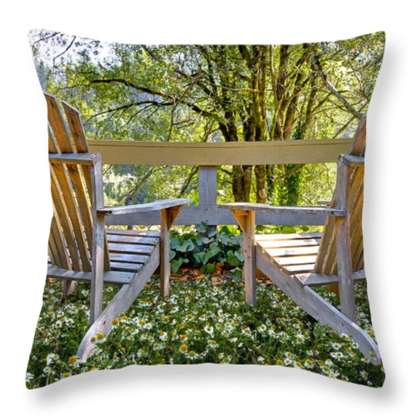 Summertime Throw Pillow by Debra and Dave Vanderlaan