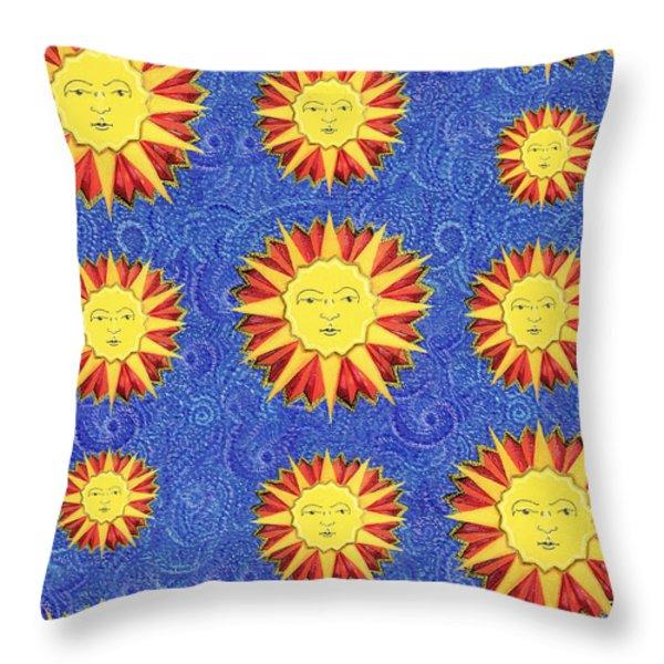 Sun King Pattern Throw Pillow by John Keaton