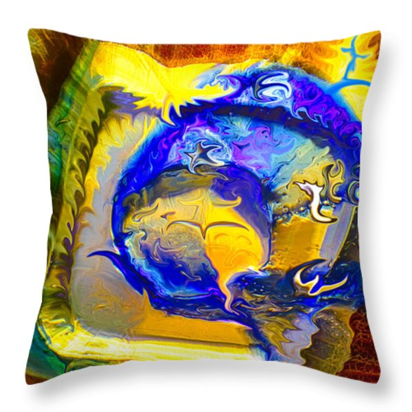Sun of a Moon Throw Pillow by Omaste Witkowski