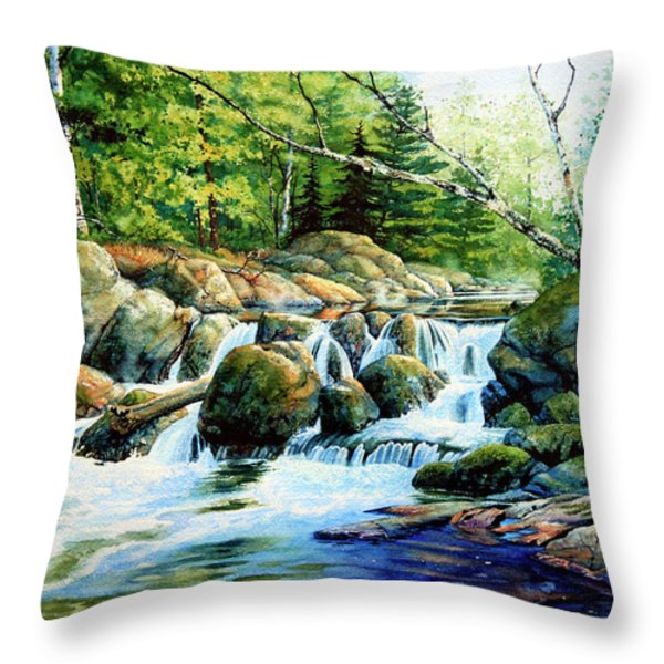 Sunfish Creek Throw Pillow by Hanne Lore Koehler