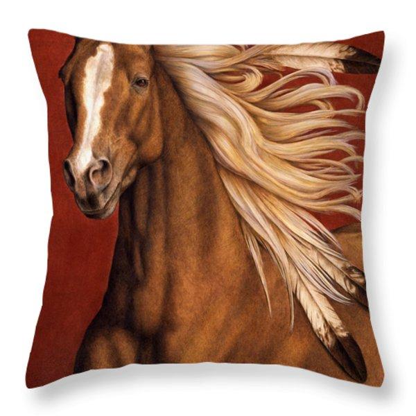 Sunhorse Throw Pillow by Pat Erickson