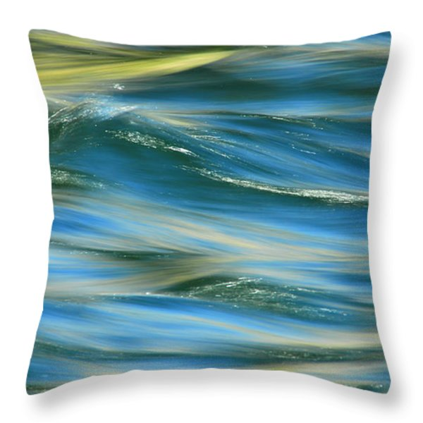 Sunlight Over The River Throw Pillow by Donna Blackhall