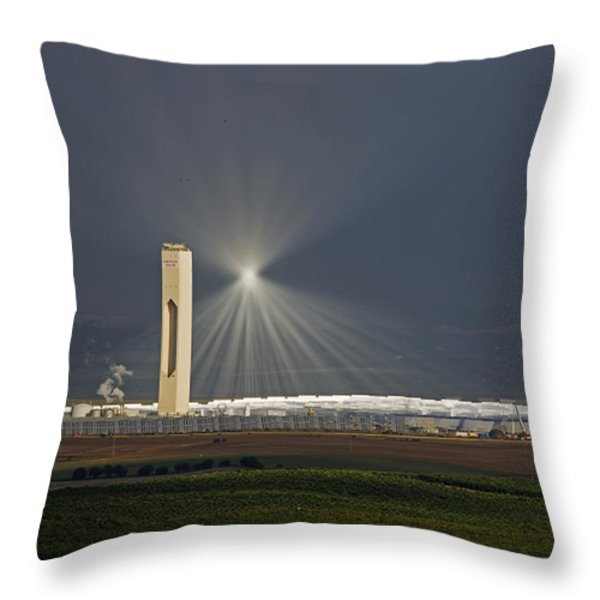 Sunlight Reflects Off Of Low Clouds Throw Pillow by Michael Melford