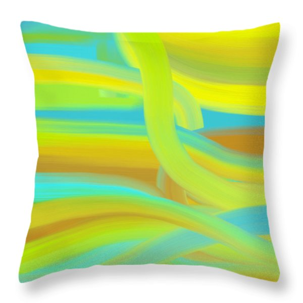 Throw Pillow featuring the painting Sunny Dunes by Frank Tschakert
