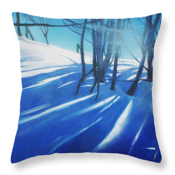 Sunny Traintrip To Hamar Throw Pillow by Lin Petershagen