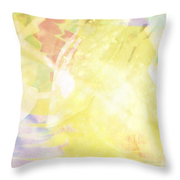 Sunny Tropics Throw Pillow by Maria Eames